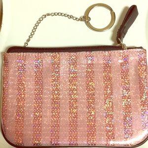 PINK Victoria Secrets Hand Pink Sparkling Wristlet